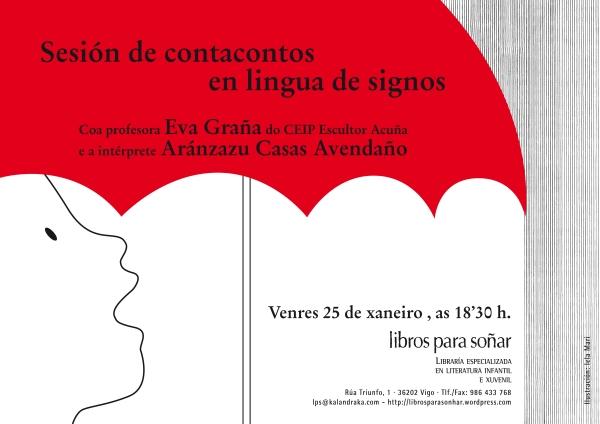 Sesión de contacontos en lingua oral e lingua de signos.