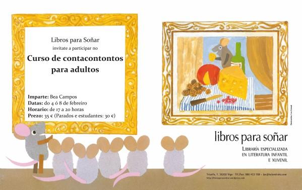 Bea Campos impartirá un curso de contacontos en Libros para Soñar-Vigo do 4-8 de febreiro.