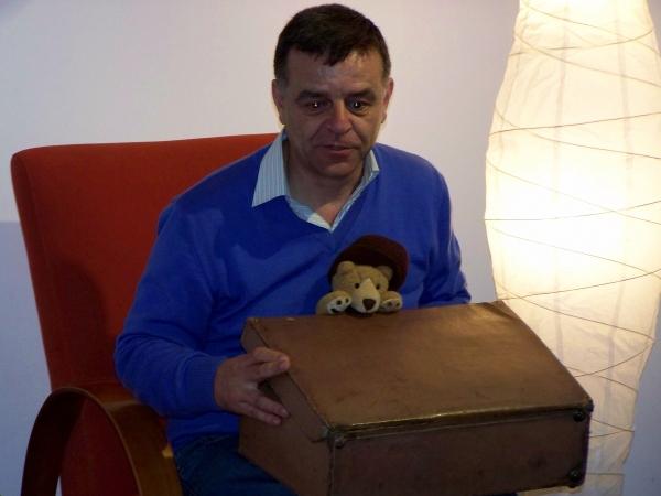 O osiño Federico, tamén na sesión de contacontos.
