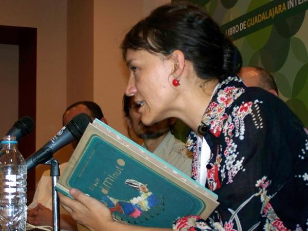 "María José Ferrada, autora de ""O baile diminuto"" (Kalandraka)."