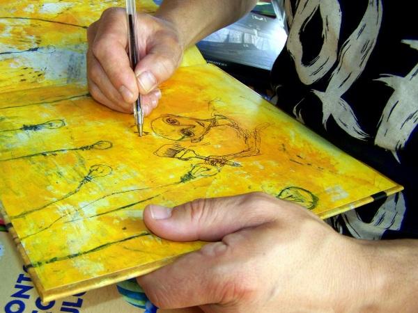 Sorprendentes debuxos que Ramón Trigo pode facer cun sinxelo bolígrafo.