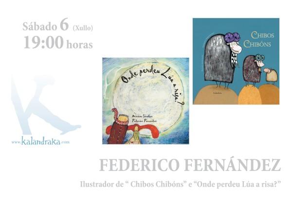 Federico Fernández asinará exemplares dos seus libros o sábado 6 a partir das 19:00h.