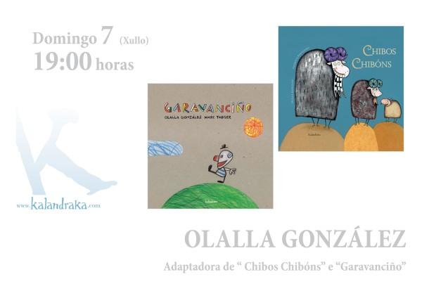 Olalla González asinará exemplares dos seus libros este sábado a partir das 19:00h.