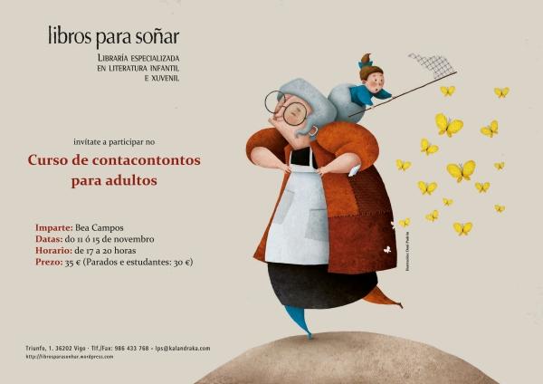 Curso de contacontos para adultos, impartido por Bea Campos.