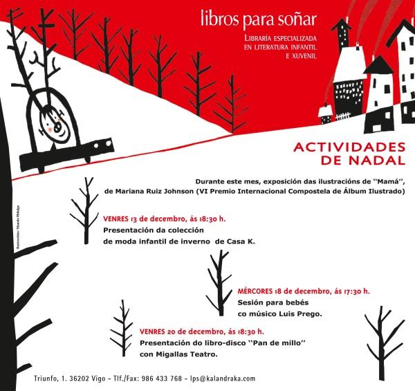 Programa de actividades para este Nadal en Libros para Soñar.