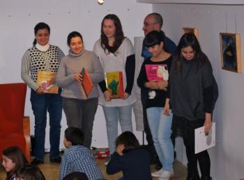 O alumnado do curso de contacontos estreouse na sesión infantil de Libros para Soñar.