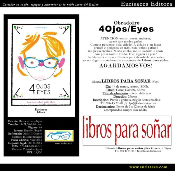 """Presentación de """"4 Ojos"""" en LIBROS PARA SOÑAR."""