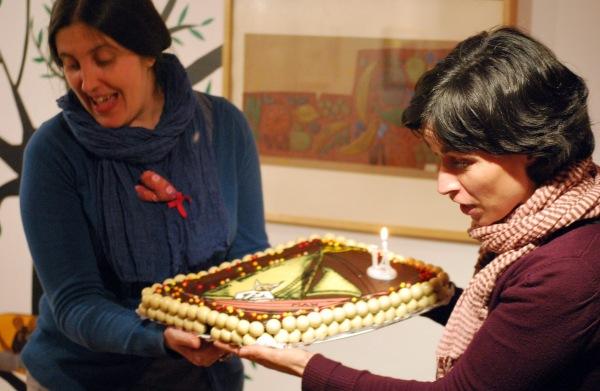 """A torta de cumpreanos, inspirada nos personaxes de """"Onde viven os monstros"""", de Sendak."""