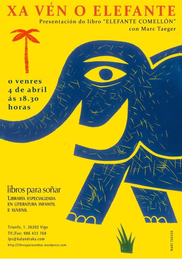 "Presentación de ""Elefante comellón"", con Marc Taeger."
