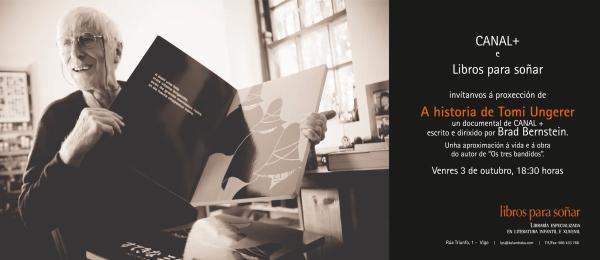 """Proxección do documental """"A historia de Tomi Ungerer"""" (CANAL+Xtra)."""