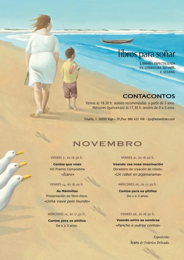 Programa de actividades en novembro.