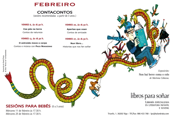 Programa de FEBREIRO 2015 en Libros para Soñar.