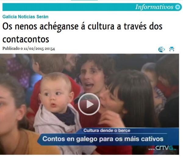 Telexornal TVG: Os nenos achéganse á cultura a través dos contacontos.