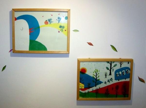 """Exposición de ilustracións de Natalia Colombo: """"Os ratos da casa""""."""