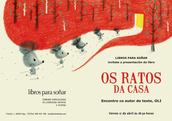 """""""Os ratos da casa"""", no escaparate de LIBROS PARA SOÑAR."""