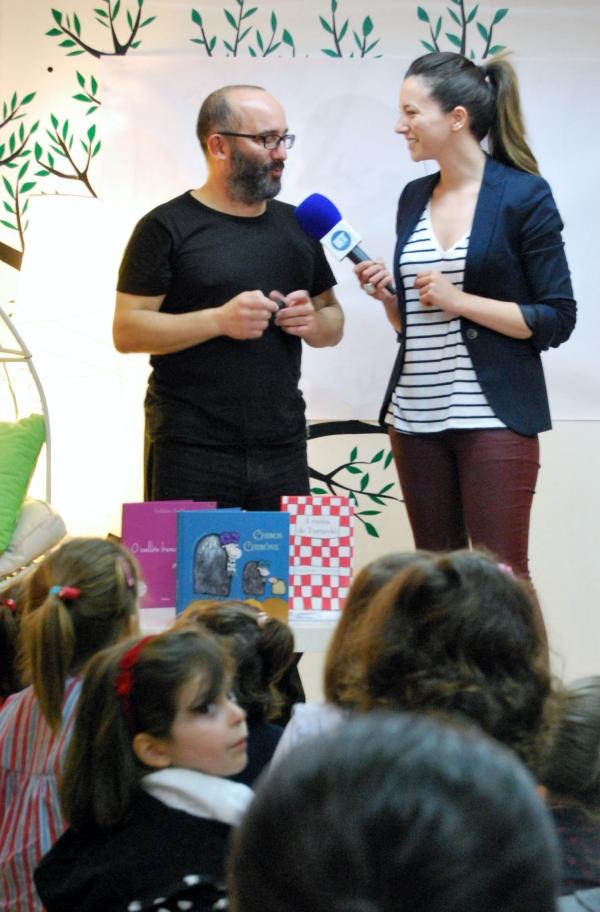 Ramón Trigo, entrevistado para o programa Boas Tardes da TVG.