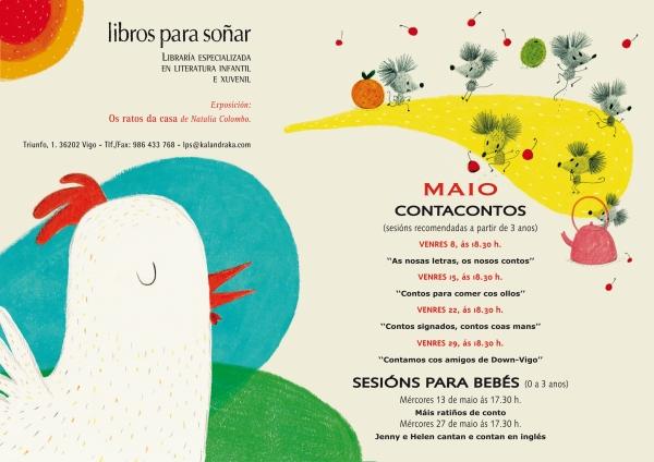 Programa de actividades de LIBROS PARA SOÑAR en maio.