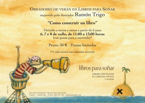 Obradoiro infantil impartido por Ramón Trigo.