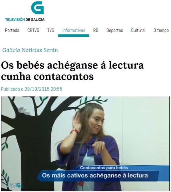 Bea Campos na sesión de contos para bebés de LIBROS PARA SOÑAR.