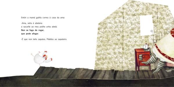 """""""O poliño da abeleira"""", de Antonio Rubio e Gabriel Pacheco (Kalandraka)."""