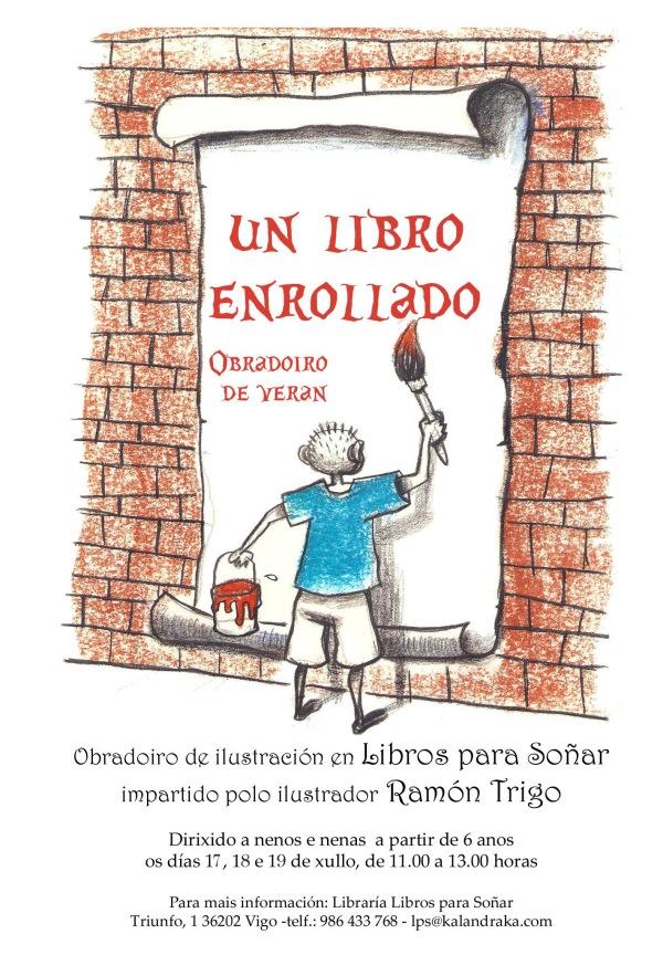 """Taller """"Un libro enrollado"""", en Libros para soñar."""