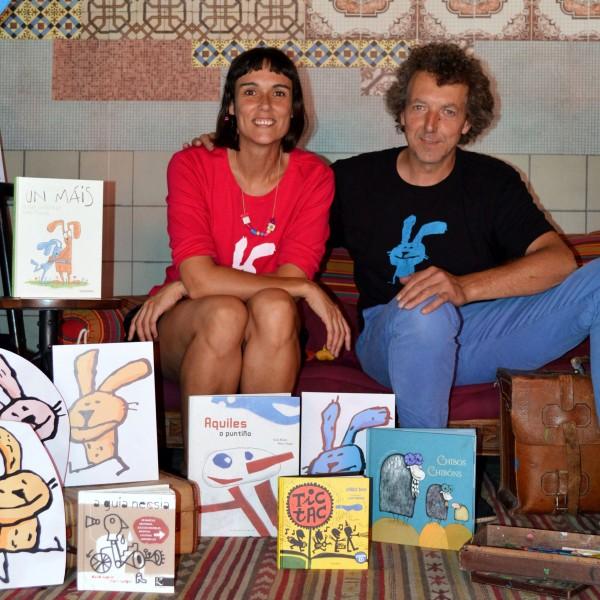 """Olalla González e Marc Taeger, autores de """"Un máis"""""""