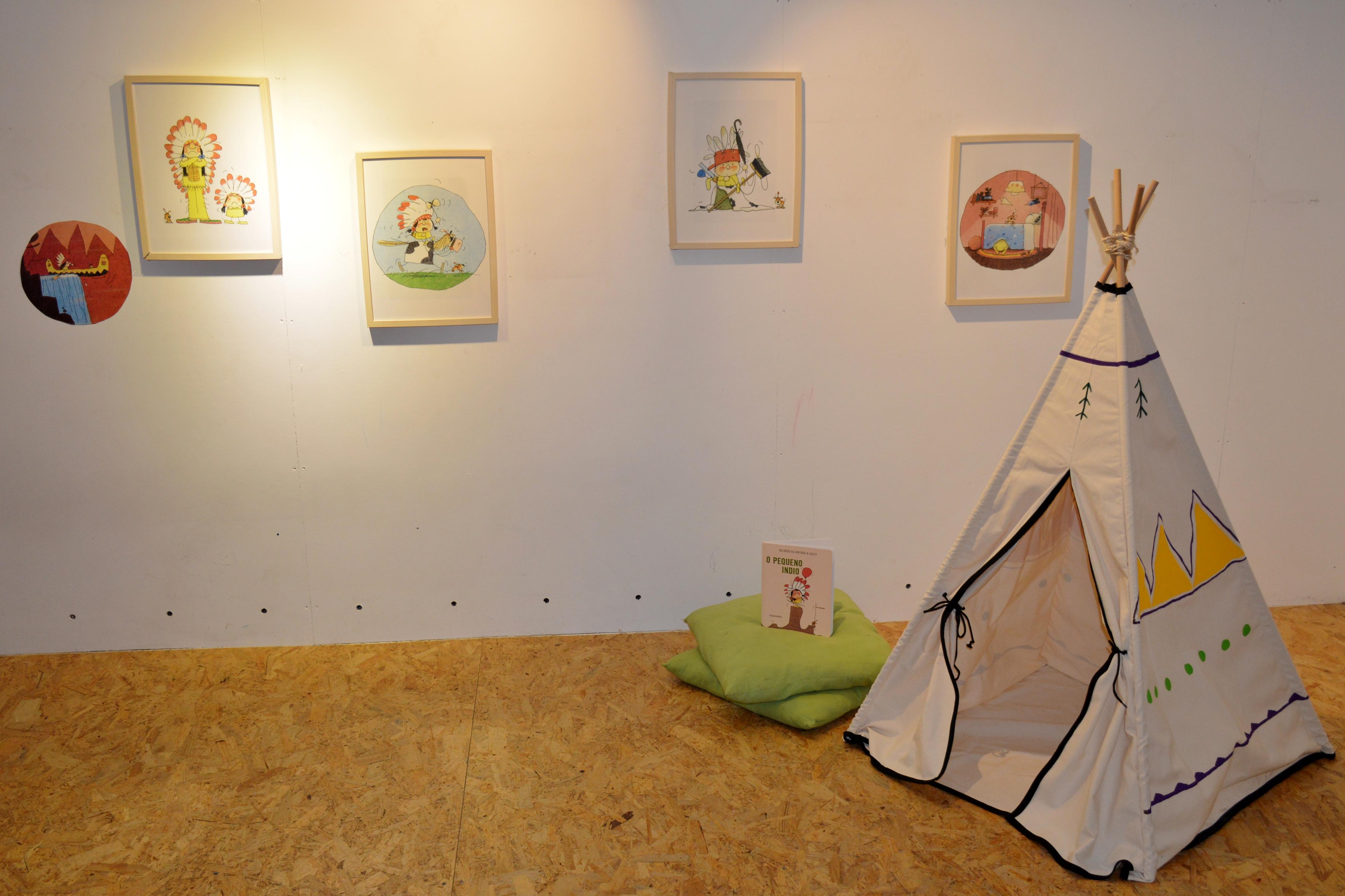Exposición de ilustracións de Gusti